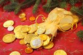 Chocolate Coins for Christmas