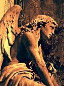 Angel at La Recoleta Cemetery in Buenos Aires