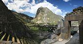 Ruins at Ollantaytambo in Peru's Sacred Valley