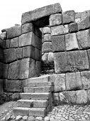 Inca stonework at Sacsayhuaman, Cusco Peru