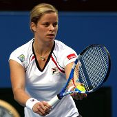 MELBOURNE, AUSTRALIA - JANUARY 22: Kim Clijsters of Belgium during her loss to Nadia Petrova of Russ