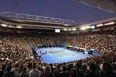 MELBOURNE, AUSTRALIA - JANUARY 27: Quarter final at Rod Laver Arena during the 2010 Australian Open