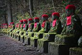 Jizo Statues in Nikko, Japan