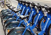 MELBOURNE - CIRCA SEPTEMBER 2010: Melbourne's $5.5 million bike share scheme isn't attracting many u