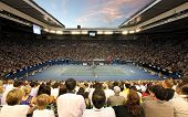 MELBOURNE - JANUARY 29: Rod Laver Arena during the 2010 Australian Open ladies final between Kim Cli