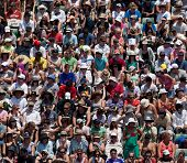 MELBOURNE - JANUARY 22:  Crowd at the 2011 Australian Open Tennis on January 22, 2011 in Melbourne,
