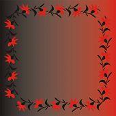 flores de vermelhos e pretos sobre fundo