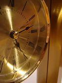 closeup of golden clock
