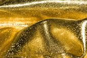 golden fabric texture for background