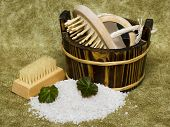pic of washtub  - washtub with bath salt - JPG