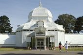 Conservatory Of Flowers Close Up With Couple