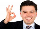 Business Man Doing The Ok Sign