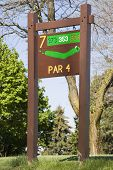 Golfers Information Sign