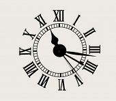 antique clock face - vector illustration