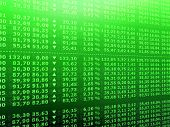 picture of stock market data  - 3d rendered illustration of rising stock numbers - JPG