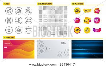 Seamless Pattern Shopping Mall Banners