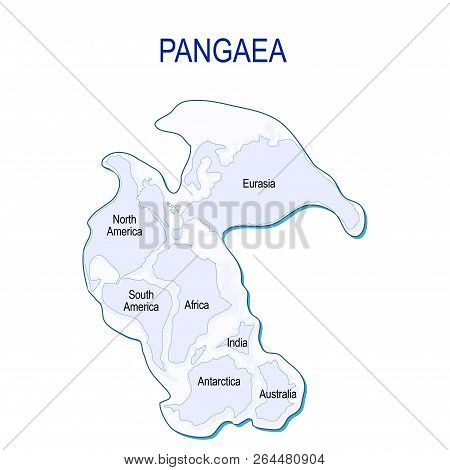 Map Of Pangaea With Modern