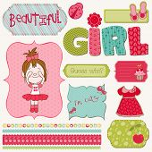 Scrapbook Girl Set - design elements