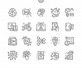 Artificial Neural Network Well-crafted Pixel Perfect Vector Thin Line Icons 30 2x Grid For Web Graph poster
