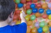 Balloon dart toss carnival skill game series