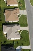 Aerial view of houses in typical home community 01
