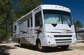 Detailed image of class A motor home recreational vehicle