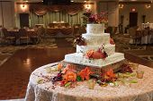 Wedding cake receptie party tafel