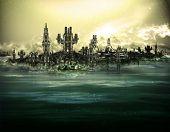 futuristic hi-tech island