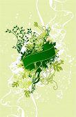 un ramo de la naturaleza, flores tarjeta con cinta & grunge elementos