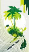 palm trees on abstract background,vector illustration