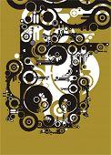 serie abstracta de fondo grunge & tech