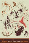 Splashes & ink blots collection,scalable vector illustration