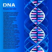 DNA molecule. Text on image only sample and  have not sense, generate special program