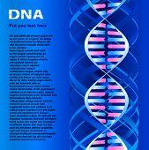 Molécula de DNA. Texto na imagem apenas experimentar e ter não sentido, gerar o programa especial