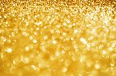 image of gold glitter  - Christmas Golden Glittering background - JPG
