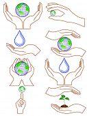 Vector of symbolic hands