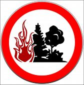 caution of forest conflagration