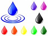 Vector of color drops