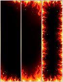vector van brand folders set