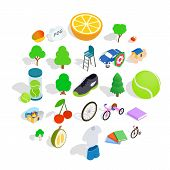 Persistence Icons Set. Isometric Set Of 25 Persistence Vector Icons For Web Isolated On White Backgr poster