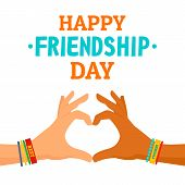 Friendship Day Concept Background. Flat Illustration Of Friendship Day Vector Concept Background For poster