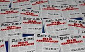 Big Announcement Surprise Headlines Newspaper Headlines 3d Illustration poster