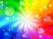 Multicolored bubble background