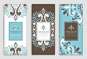 Luxury Packaging Design Of Chocolate Bars. Vintage Vector Ornament Template. Elegant, Classic Elemen poster