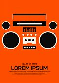 Music Poster Template Design Modern Retro Vintage Style. Can Be Used For Background, Backdrop, Banne poster