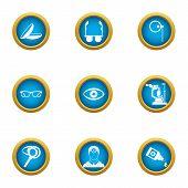Scientific Environmentalist Icons Set. Flat Set Of 9 Scientific Environmentalist Vector Icons For We poster