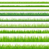 stock photo of lawn grass  - 9 Backgrounds Of Green Grass - JPG