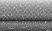 Rain With Water Ripples 3d Effect Isolated On Transparency Background, Autumn Rainfall, Realistic He poster