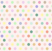 Abstract Background With Colorful Pastel Polka Dot On Beige Wallpaper. Vector Art Polka Dot Pattern  poster