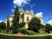 schilderachtig uitzicht op prachtige kasteel